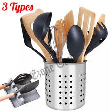 Kitchen Utensil Holder Spoon Rest Container Flatware Organizer Storage Tool