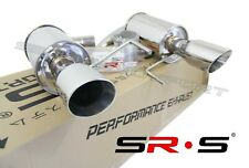 """SRS Stainless Axleback Exhaust FOR 2015-2017 Ford Mustang GT 5.0L V8 4"""" TIPS"""