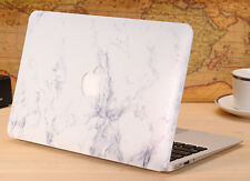 White Marble Hard Case Cover Shell for Macbook Air 13 '' A1369 A1466