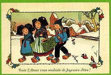 Carte Postale-Illustrateur.Hansi-Toute l'alsace vous souhaite de Joyeuses fêtes