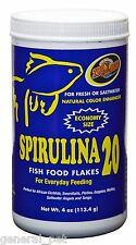 Zoo Med Spirulina 20 Flake Food 4oz
