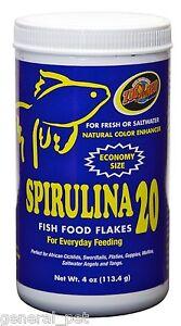 Zoo Med Spirulina 20 Flake Food 4oz