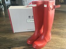 HUNTER ORIGINAL TALL MILITARY RED WELLINGTON BOOTS  Welly Red Sz. 5 ~New in Box!