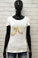 Maglia MARELLA SPORT Donna Taglia S Maglietta Shirt Woman Cotone Bianco Slim Fit