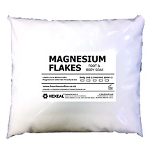 MAGNESIUM FLAKES | 1KG BAG | 100% Pure | Bath Soak | Magnesium Chloride