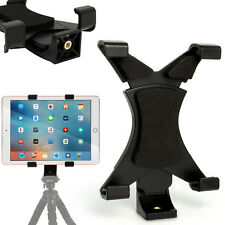 "Tablet Holder Mount Bracket 1/4 Thread Adapter for Tripods Fits 7"" - 10"" Tablets"