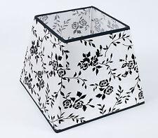 Lampenschirm Dekorativer Weiss  Mit Samtblumen E27 Gross