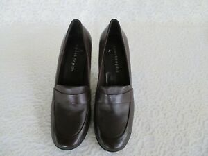Women's New Size 6 1/2 Apostrophe Brown Leather Shoes