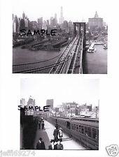 BROOKLYN BRIDGE SUBWAY East River MANHATTAN NYC Early 1900s 2 PHOTOS Free Ship