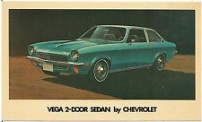 1971 Chevrolet Vega 2-Door Sedan Automobile Advertising Postcard