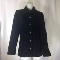 BP Women's Black Suede button Front Jacket Size Small