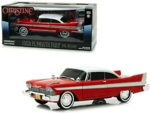 GREENLIGHT 84082 1958 PLYMOUTH FURY CHRISTINE BLACKED OUT VERSION DIECAST 1:24