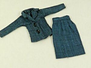 """Uneeda 11.5"""" Miss Suzette Barbie Clone Blue Two Pieces Suit READ"""