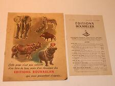 bourrelier editions 1949 ANCIEN livre scolaire LECTURE VOCABULAIRE goumy PARRY