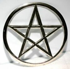"""5 3/4"""" Silver Cut-Out Pentagram Altar Tile Wiccan Wicca Witchcraft Supplies"""