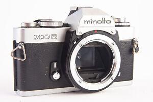 Minolta XD 5 35mm SLR Film Camera Body with Fresh Batteries TESTED V14