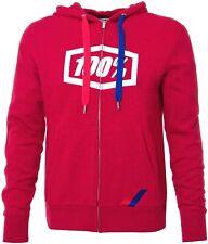 100% Syndicate Zip Hooded Sweatshirt Hoody Hoodie Red Men's XL - 36004-003-13