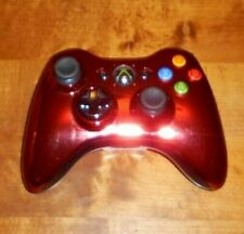 MICROSOFT XBOX 360 CHROME RED CONTROLLER IN VGWC + HAS BEEN CLEANED