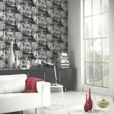 Nuevo Arthouse con Purpurina Londres motivo Negro Blanco Foto Motivo