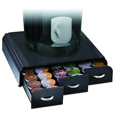 New Coffee Pod Holder 36 K Cup Storage Rack Cups Drawer Organizer Black Finish