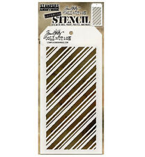 Tim Holtz Layering Stencil Peppermint Stencil ths095 Stampers Anonymous