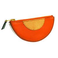 HERMES Fruit Motif Orange Coin Purse Wallet V23 △ Chevre Leather NR14043i