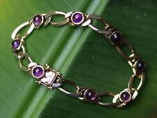 Armband Gold 585 Amethyst Armkette