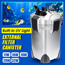 Aquarium External Filter Canister Fish Tank Water Pump Sponge Media Ki