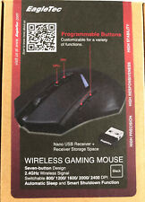 EAGLETEC Wireless Gaming Mouse LED - Fully Customizable 2.4 GHz
