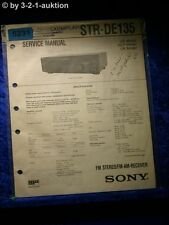 Sony Service Manual STR DE135 FM/AM Receiver (#5231)