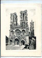CP 02 AISNE - Laon - La Cathédrale - 2 volets Voeux - Ill. Rahin