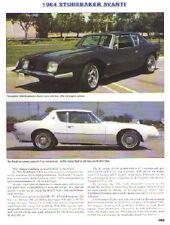 1964 Studebaker Avanti Article - Must See !!