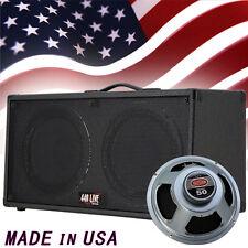 2x12 Guitar Spkr Cabinet Charcoal black Tolex W/CELESTION Rocket 50 Speakers