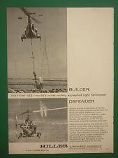 12/1963 PUB HILLER AIRCRAFT PALO ALTO HILLER 12E LIGHT HELICOPTER ORIGINAL AD