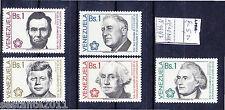 VENEZUELA, INDIPENDENZA DEGLI USA 1776 - 1976, Y. 993 / 997, MNH**,   A137