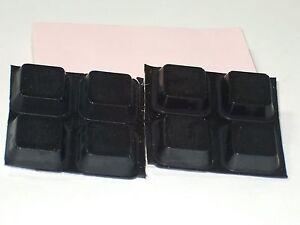 8pk - Black Rubber Feet   (RF29)