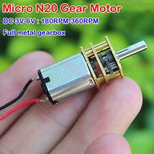 DC 5V 6V 9V 12V 46RPM Mini Gearbox Gear Motor Slow Speed Reduction DIY Toy Hobby