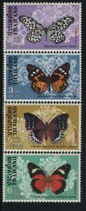 """THAILAND, MNH Scott, # 861-64  """" BUTTERFLIES """" VAL. $ 14.25"""