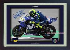 new 2018 valentino rossi signed signature print autograph photo superbike Framed