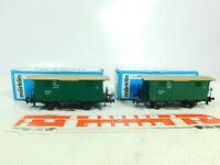 BS724-0,5# 2x Märklin H0/AC 4685 Gedeckter Güterwagen K.W.St.E. sehr gut; OVP