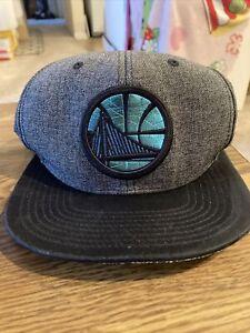 Mitchell & Ness NBA  Hat Cap NBA Golden State Warriors Adjustable Black/gray