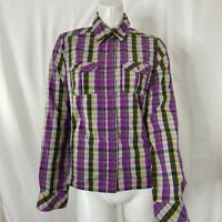 The North Face Womens Multicolored Plaid button Front Shirt Small