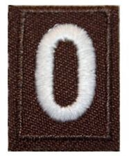 Girl Scout Troop Numbers Patches - Brown - Brownies Numerals New
