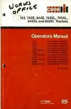 Case IH Tractor 743 743XL 745S 745XL 844XL 856XL Operators Manual