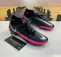 Men's Nike Phantom GT Elite DF FG Soccer Cleats Black/Pink CW6589-006 Size 8.5
