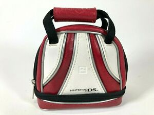 Nintendo DS Red and White Mini Brunswick Bowling Bag Travel Carry Case