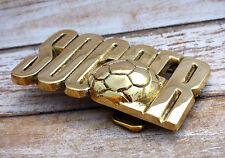 Soccer Solid Brass Vintage 1978 Baron Belt Buckle