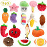 Squeaky Dog Toys Pet Puppy Plush Sound Chew Toy Set for Small Medium Dogs Cats