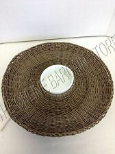 Pottery Barn All Weather Wicker Chip and Dip Serving Tray Server Party Bowl