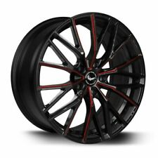 BARRACUDA PROJECT 3.0 Black gloss Flashred Felge 8,5x18 - 18 Zoll 5x108 ...